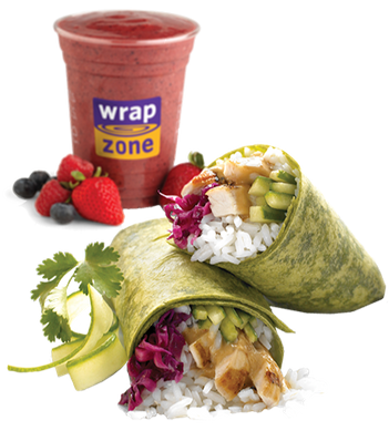 wrap zone | smoothie and wraps