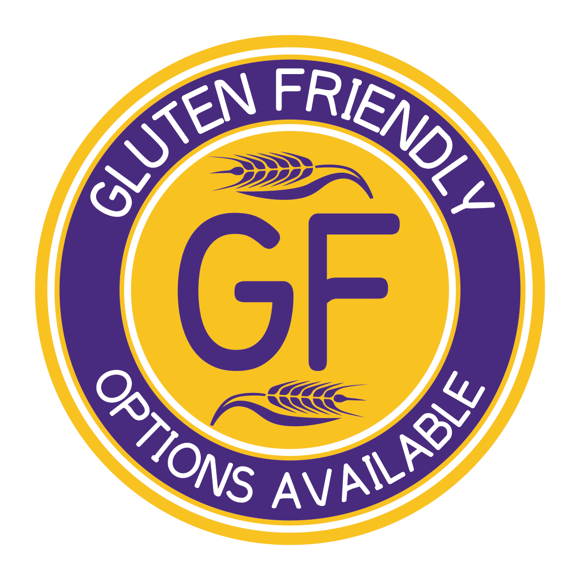 Gluten friendly options available